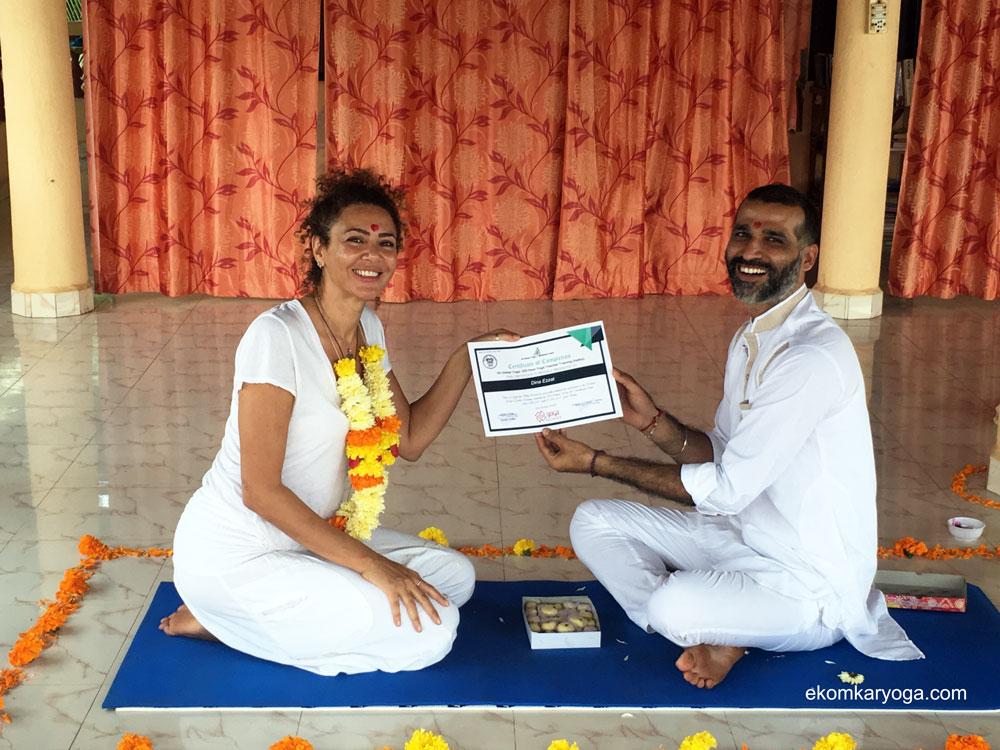 Ek Omkar Yoga TTC Student Dina Ezzat